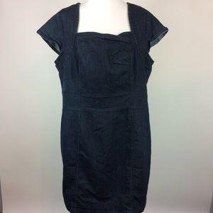 Lane Bryant Blue Denim Dress Plus Size 18